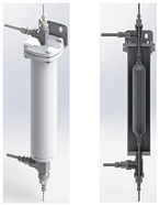 Mechatest jacketed sample cooler with fixed volume cylinder