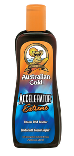 Accelerator Extreme Iconic Australian Gold Zonnebank creme bronzer zoncosmetica DHA cosmetisch natuurlijk