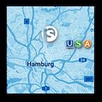 "Grafik: ""Preview-Anfahrtskarte"" | perfect sense media consulting - Piet [Peter] Braun, Hamburg"