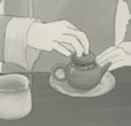 茶を淹れる