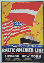 Baltic America line poster.