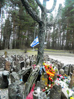 Memorial in Rumbula Forest.
