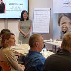 Janet Mo leitet Modul 3 der China Academy vom Export Center Oberösterreich