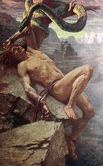 Die Bestrafung Lokis von James Doyle Penrose, R.H.A.