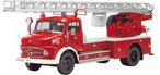Mercedes-Benz L 322 Drehleiter Metz DL 22 Red/White Feuerwehr Münnerstadt Schuco 00155