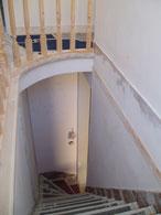 Escalier, travaux, plateforme, peinture