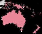 Karte zur Verbreitung der Honigfresser