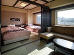 客室・建具・ヘッドボード・畳部屋・高山ホテル