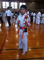小学6年生初級 3位 影山 銀次郎