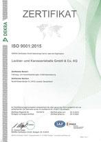 DIN ISO 9001:2015 Zertifikat