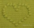 Crochet: corazón puff en relieve