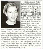 Cronenberger Anzeiger Bericht vom 15.06.2004