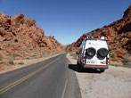 Im Valley of Fire stellen wir das Sprinterli ab...