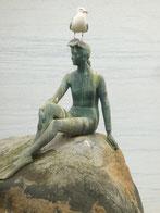 Meeresjungfrau mit Möve an der Hafeneinfahrt von Vancouver
