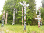 Totempfähle im Stanley Park von Vancouver