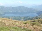 Unspektakulär reisen wir über die Laguna Santa Maria del Oro ...