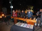 16.11.2014: In San Cristobal ist Techno-Wochenende. Marimba-Klänge gefallen uns besser.