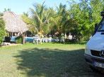 """""""Oberirdisch"""" haben wir bei der Cenote Suytun einen tollen Stellplatz mit Pool für uns alleine."""
