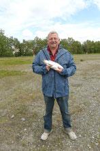 Das Anfängerglück beschert uns einen King Salmon mit 3 Pfund...