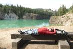... und relaxen am Yukon