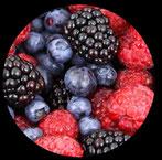 aromenmischung aus verschiedenen beeren und früchten