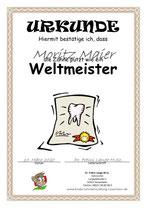 Zahnputz-Urkunde