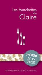 Couverture du Guide Les fourchettes de Claire