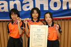 女子3位の松山TTS