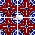 Azulejo Talavera modelo Navaho en 10.5 x 10.5 cm, ideal para baños y cocinas mexicanas lo encuentras en Rústicos Artesanales visítanos en nuestra web www.rusticosartesanales.com