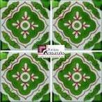 Azulejo Talavera modelo Toledo Verde con Verde en 10.5 x 10.5 cm, ideal para baños y cocinas mexicanas lo encuentras en Rústicos Artesanales visítanos en nuestra web www.rusticosartesanales.com