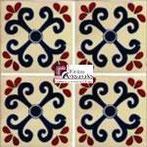 Azulejo Talavera modelo San Miguel en 10.5 x 10.5 cm, ideal para baños y cocinas mexicanas lo encuentras en Rústicos Artesanales visítanos en nuestra web www.rusticosartesanales.com