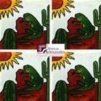 Azulejo Talavera modelo Iguana en 10.5 x 10.5 cm, ideal para baños y cocinas mexicanas lo encuentras en Rústicos Artesanales visítanos en nuestra web www.rusticosartesanales.com