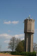 Wasserturm Morlautern etwas schief fotografiert