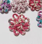 ちりめん和風ブローチぴんく大花結び飾り結びメドゥプ