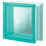 Bild: Design Pegasus Turchese Q19 T Clearview Vollsicht Türkis Turquoise Transparent Glasbaustein Glasstein Glass Blocks Glasbausteine-Center Glasbausteine-Center.de Glassteine Glasbausteine
