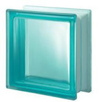 Bild: Design Pegasus Turchese Q19 T sat 1 lato Clearview Vollsicht Türkis Turquoise Satiniert 1 Seite Glasbaustein Glasstein Glass Blocks Glasbausteine-Center Glasbausteine-Center.de Glassteine Glasbausteine satin one side finished