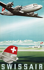 Original vintage Swissair poster collection