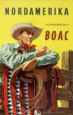 Original vintage BOAC poster collection