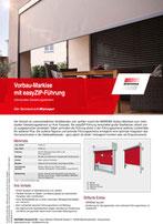 Download Produktinfo Vorbau Markise mit easy ZIP-Führung