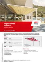 Download Produktinfo Pergola Markise Perea P70