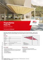 Download Produktinfo Warema Pergola Markise Perea P70