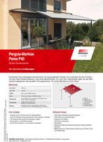 Download Produktinfo Warema Pergola Markise Perea P40