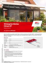 Download Produktinfo Warema Wintergartenmarkise Climara D3