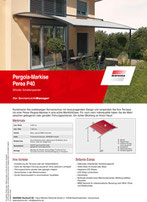 Download Produktinfo Warema Pergola Markise Perea P60