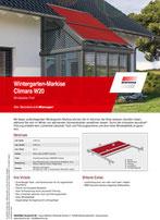Download Produktinfo Warema Wintergartenmarkise Climara W20