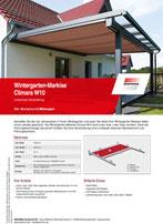 Produktinfo Warema Wintergartenmarkise Climara W10