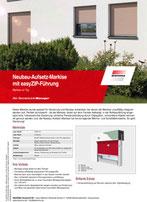 Download Produktinfo Neubau-Aufsetz-Markise mit easyZIP-Führung