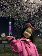 kohtomoさん:桜と手乗りスカイツリー(^_^)