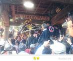 門前人さん:八王子神社神輿昇殿参拝@下総三山の七年祭り