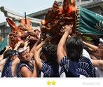 カエルさん:住吉神社例祭 獅子頭宮出